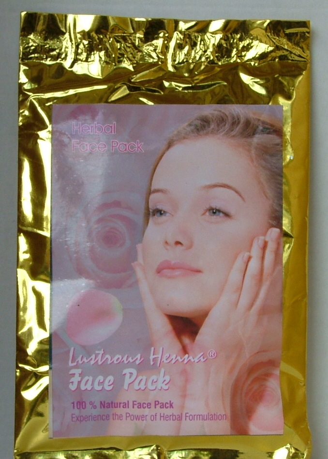 Lustrous Henna Face & body mask.