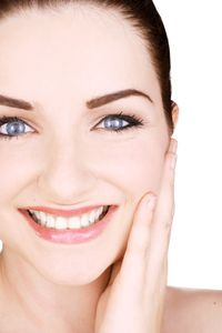 Smile with Lustrous Skin Care. www.SabaBotanical.com