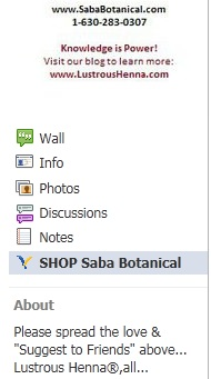 Shop Saba Botanical Store on Facebook