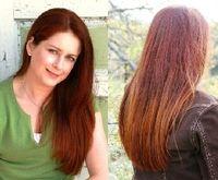 Krista loves all natural Lustrous Henna hair dye.