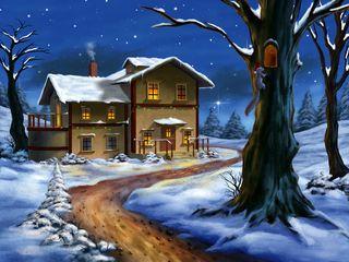 Home in winter. www.ljonealdesign.com